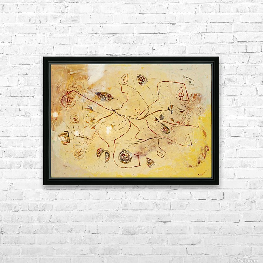 copper threads HD Sublimation Metal print with Decorating Float Frame (BOX)