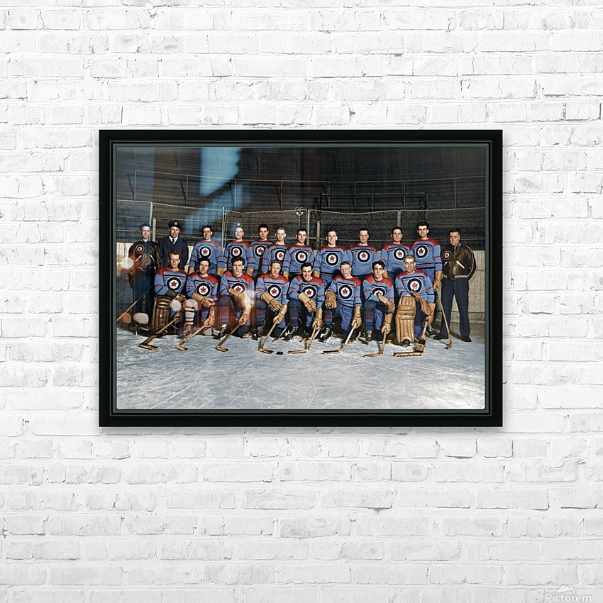 RCAF Flyers - Canadian Olympic Hockey Team October 29 1947 HD Sublimation Metal print with Decorating Float Frame (BOX)