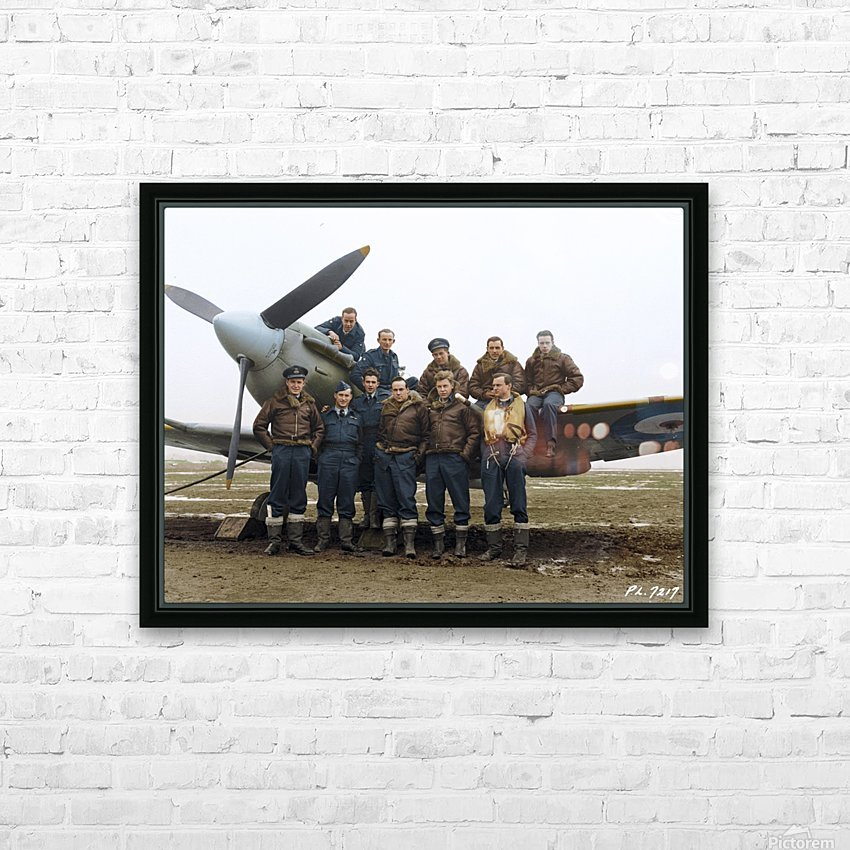 Members of 403 Squadron RCAF February 12 1942 HD Sublimation Metal print with Decorating Float Frame (BOX)