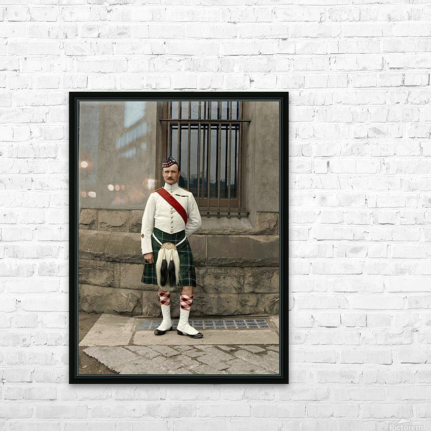 RSM David Nelson 72nd Regt. Seaforth Highlanders of Canada c.1913 HD Sublimation Metal print with Decorating Float Frame (BOX)