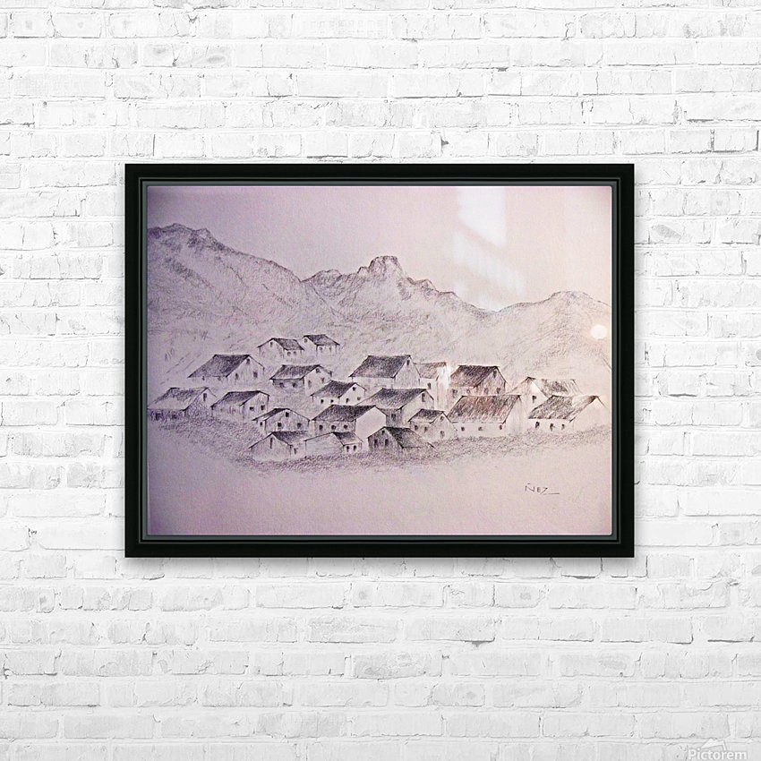 The Hills HD Sublimation Metal print with Decorating Float Frame (BOX)