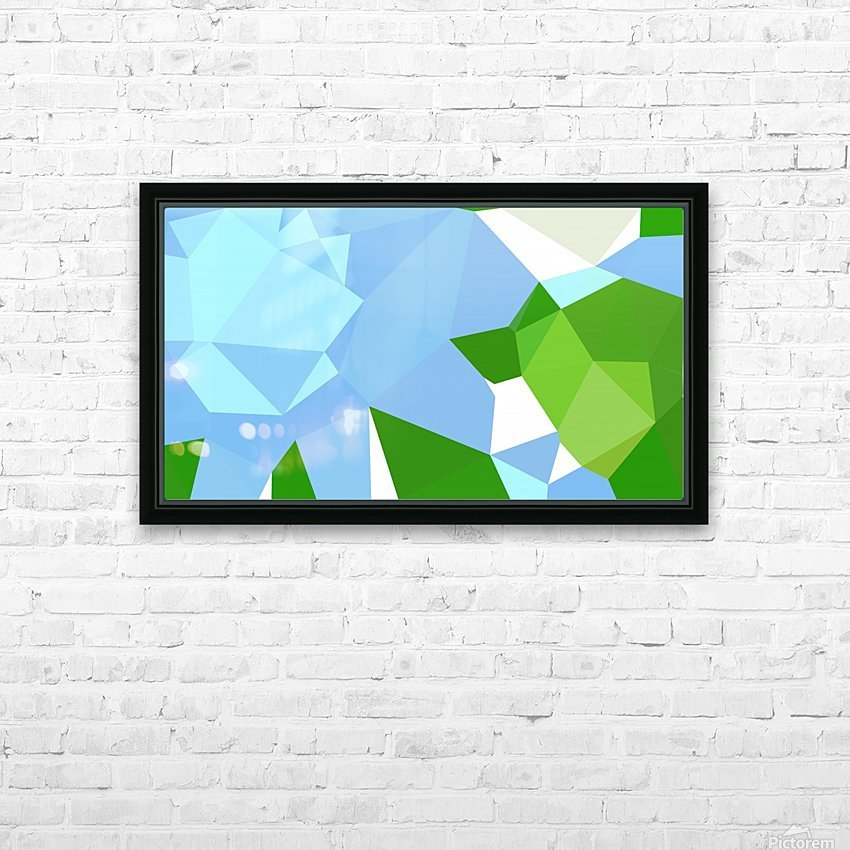 abstract geometric triangular art HD Sublimation Metal print with Decorating Float Frame (BOX)