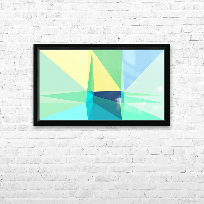 abstract colorful geometric shapes HD Sublimation Metal print with Decorating Float Frame (BOX)
