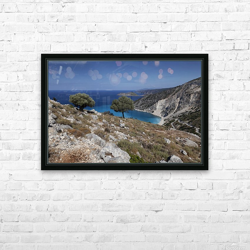 The Greek island of Kefalonia HD Sublimation Metal print with Decorating Float Frame (BOX)