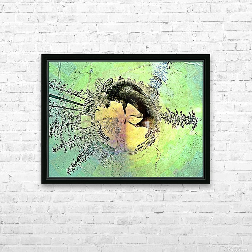 abstract baby moose  HD Sublimation Metal print with Decorating Float Frame (BOX)