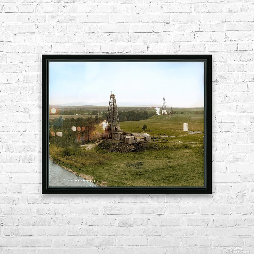 Turner Valley Alberta - 1914 HD Sublimation Metal print with Decorating Float Frame (BOX)