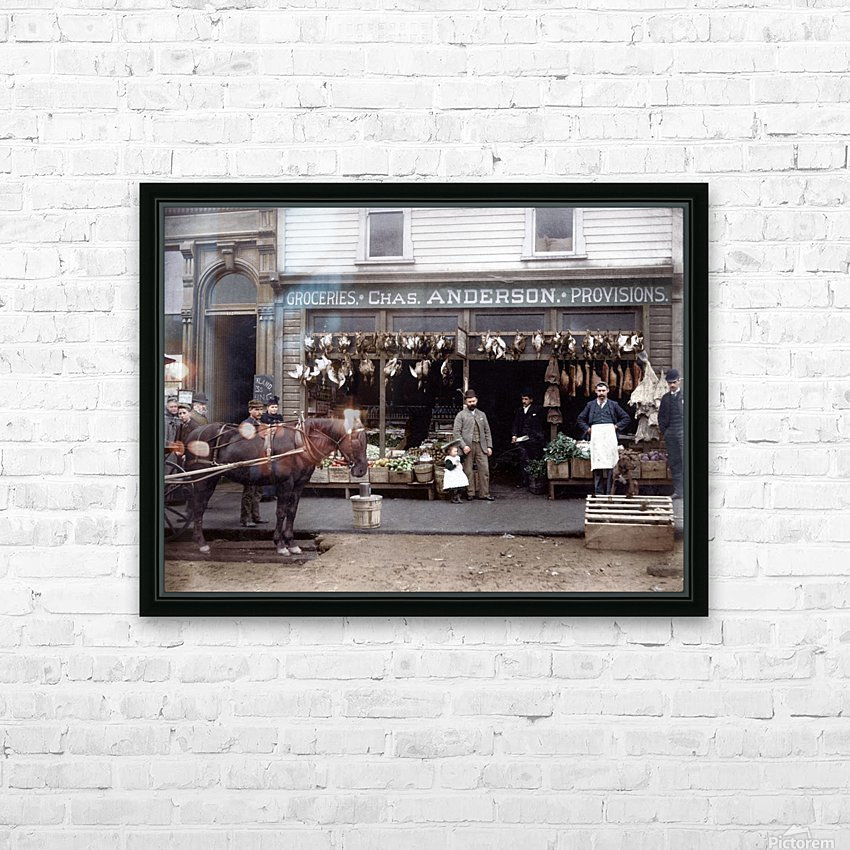 Chas Anderson Grocery Vancouver 1890s HD Sublimation Metal print with Decorating Float Frame (BOX)