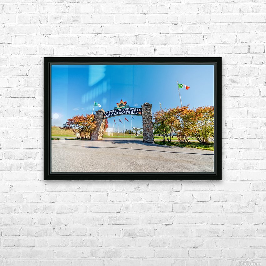 Gateway to The North HD Sublimation Metal print with Decorating Float Frame (BOX)