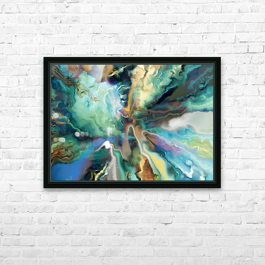 Color Galaxy 20 HD Sublimation Metal print with Decorating Float Frame (BOX)