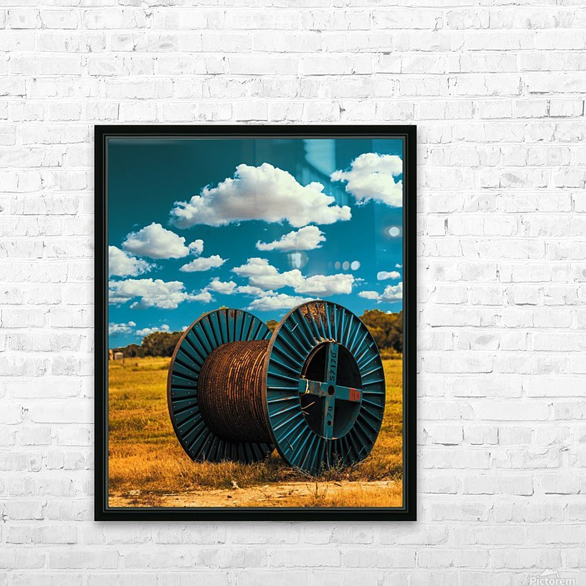 Lonely Spool HD Sublimation Metal print with Decorating Float Frame (BOX)