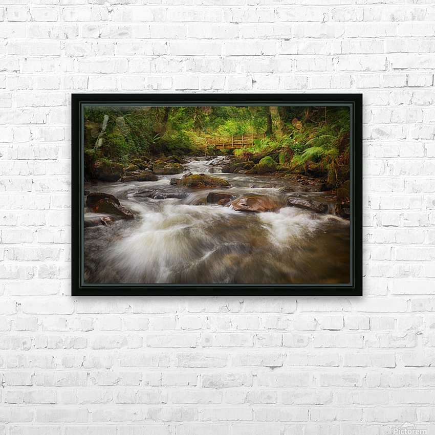 The wooden bridge over the river Melin HD Sublimation Metal print with Decorating Float Frame (BOX)