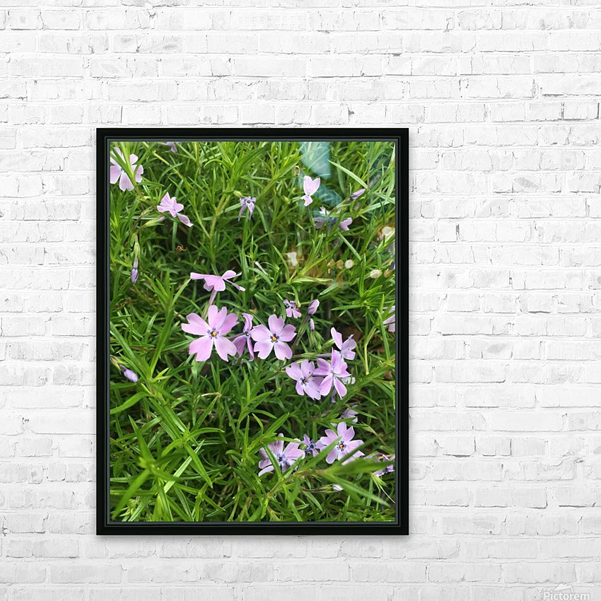 Purple Wild flowers HD Sublimation Metal print with Decorating Float Frame (BOX)