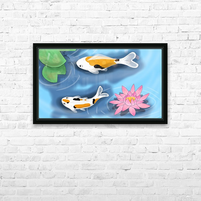 Cartoon Koi fish HD Sublimation Metal print with Decorating Float Frame (BOX)