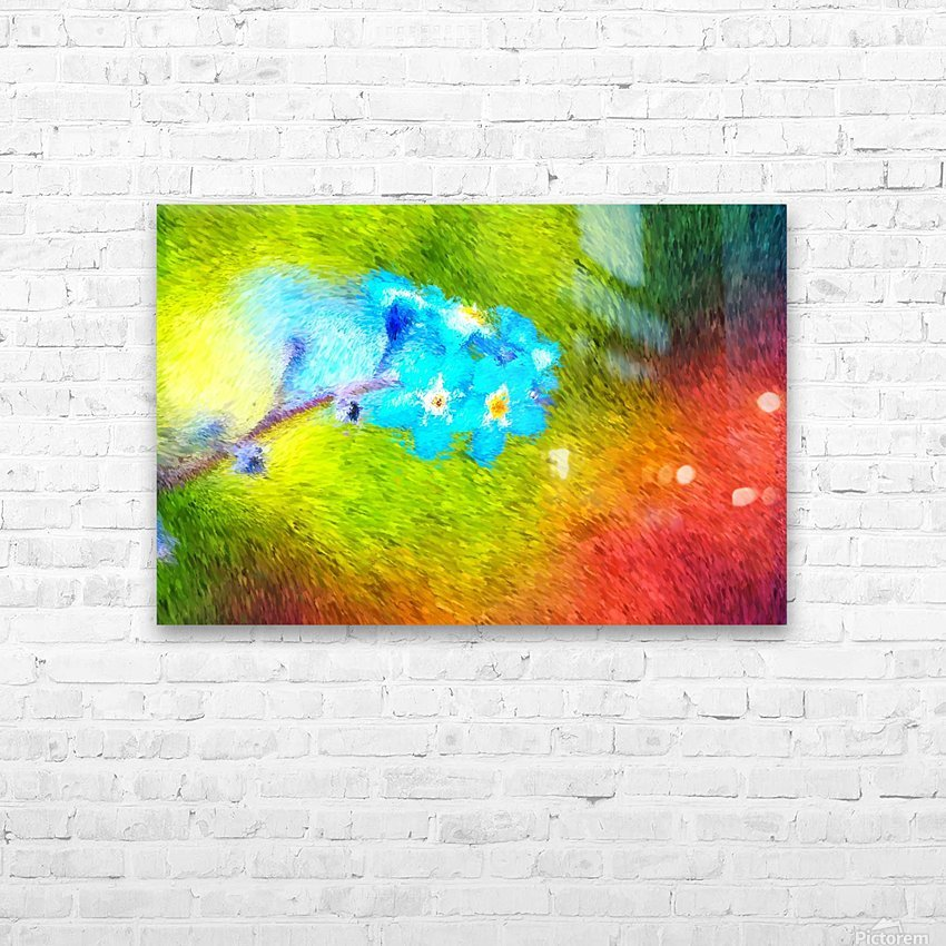 Forget Me Nots In The Wild  HD Sublimation Metal print with Decorating Float Frame (BOX)