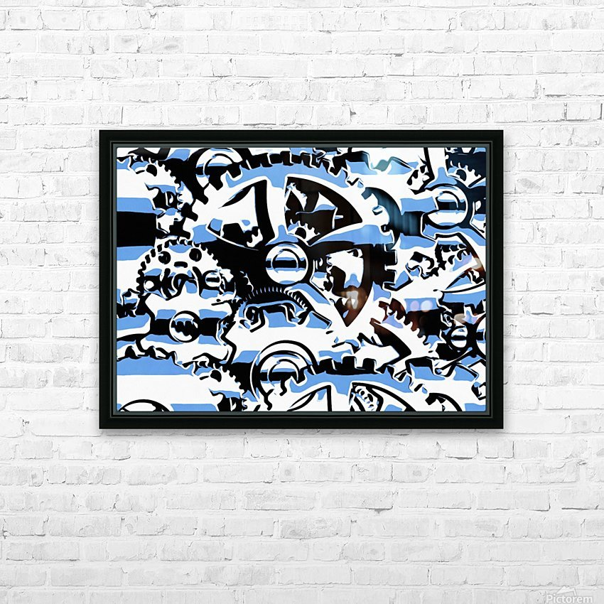 Gears HD Sublimation Metal print with Decorating Float Frame (BOX)
