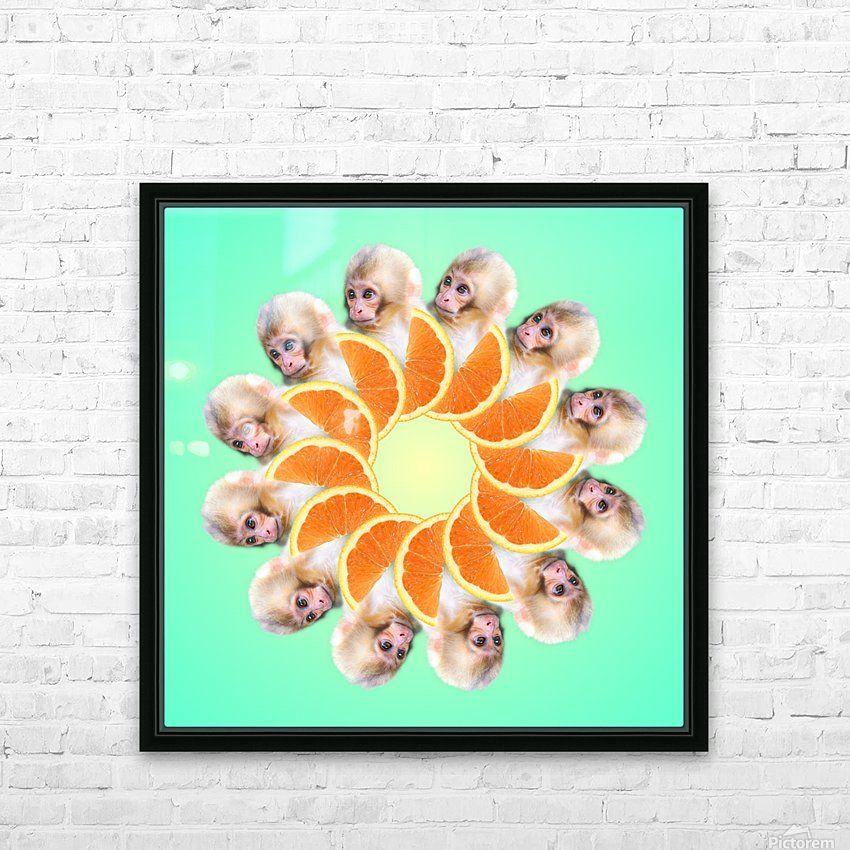 Orange you glad i didnt say Monkey 1080 HD Sublimation Metal print with Decorating Float Frame (BOX)