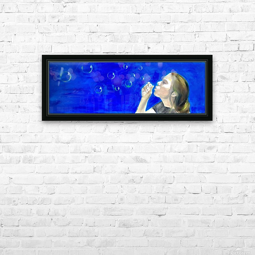 Blowing bubbles HD Sublimation Metal print with Decorating Float Frame (BOX)