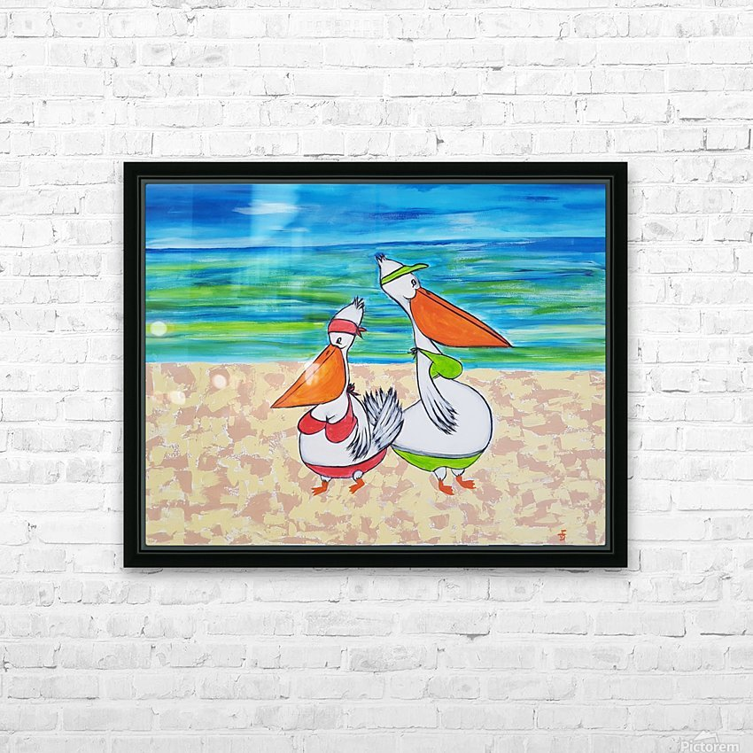 Pelican Mothers HD Sublimation Metal print with Decorating Float Frame (BOX)