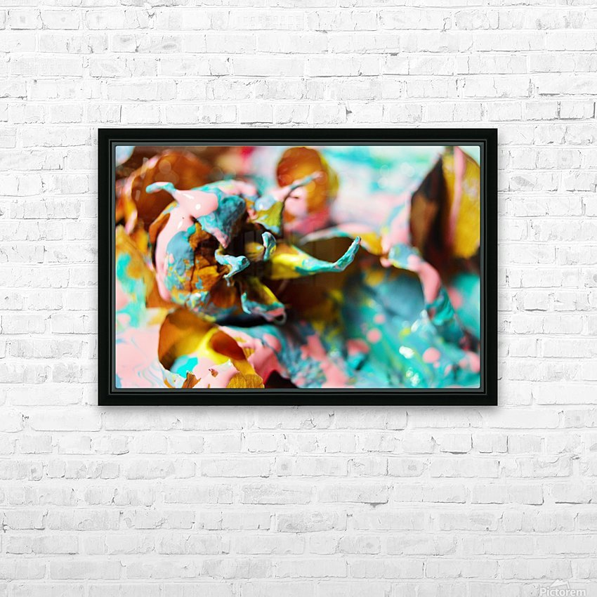 Painted Roses.10 HD Sublimation Metal print with Decorating Float Frame (BOX)