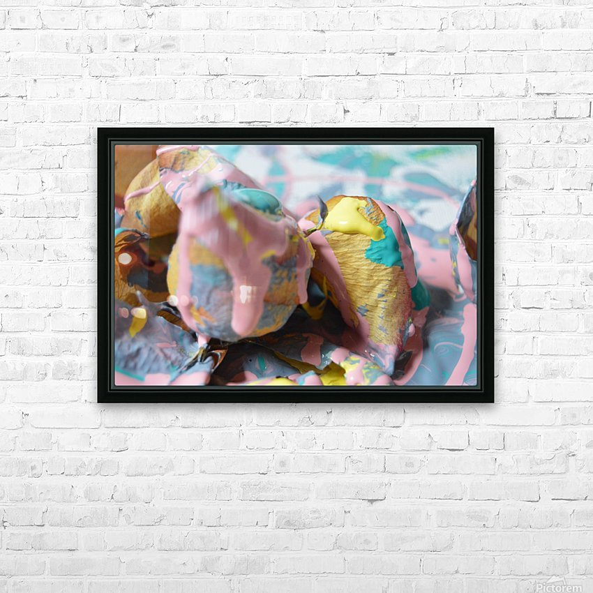 Painted Roses.13 HD Sublimation Metal print with Decorating Float Frame (BOX)