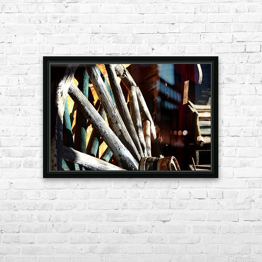 Wagon Wheels.04 HD Sublimation Metal print with Decorating Float Frame (BOX)
