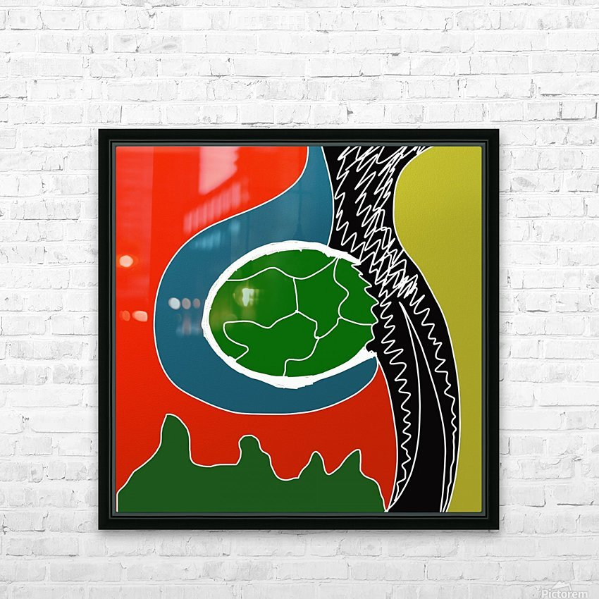 EarthWomb HD Sublimation Metal print with Decorating Float Frame (BOX)
