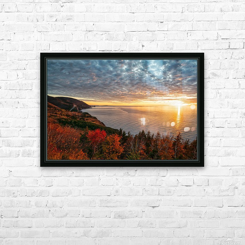 Autumn Glory HD Sublimation Metal print with Decorating Float Frame (BOX)