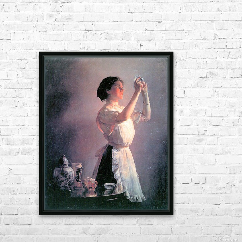 The blue cup by Joseph DeCamp HD Sublimation Metal print with Decorating Float Frame (BOX)