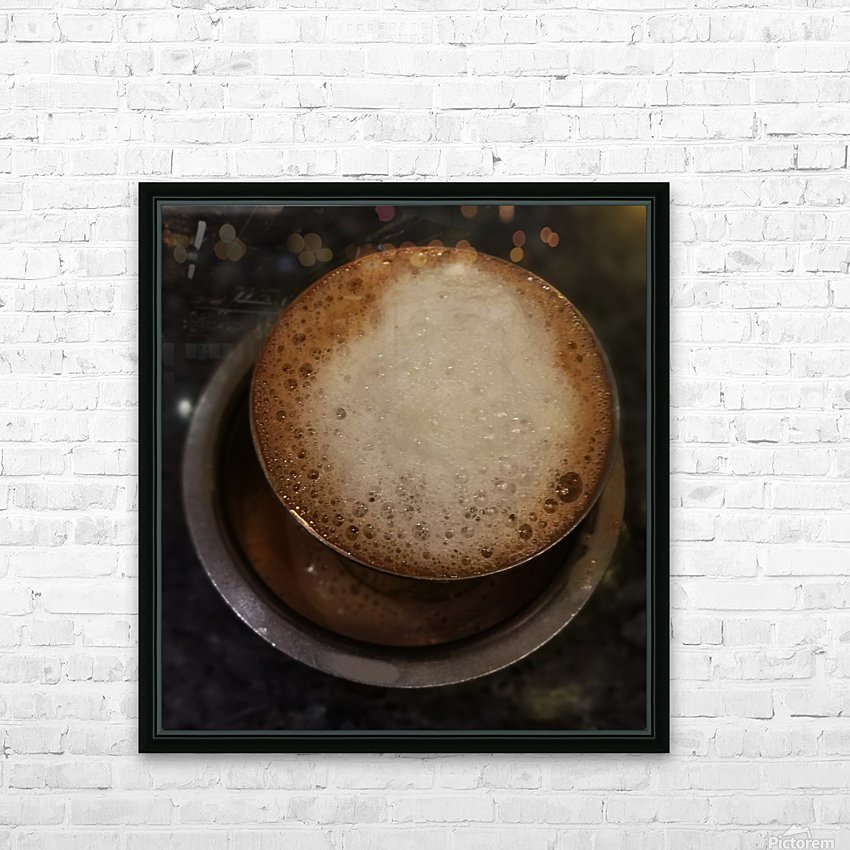Indian Filter Coffee HD Sublimation Metal print with Decorating Float Frame (BOX)
