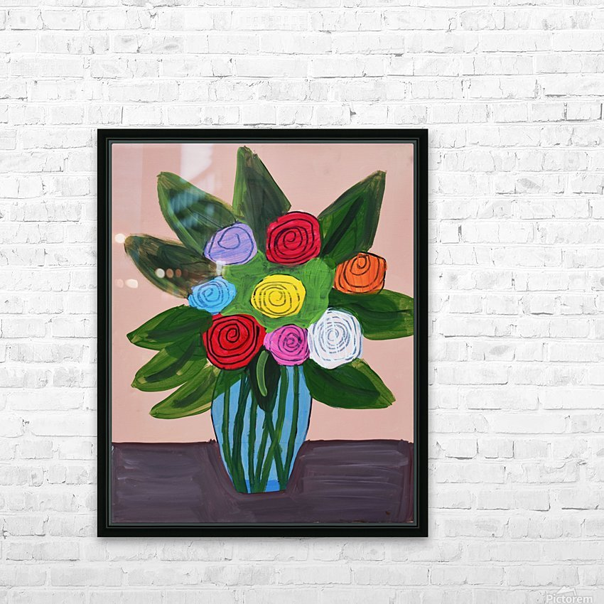 Flowers. Tala S HD Sublimation Metal print with Decorating Float Frame (BOX)