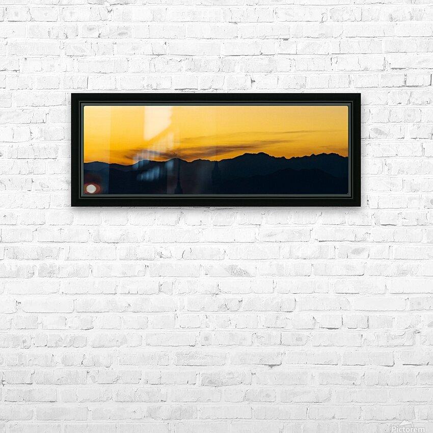 Aurora Westward 1 HD Sublimation Metal print with Decorating Float Frame (BOX)