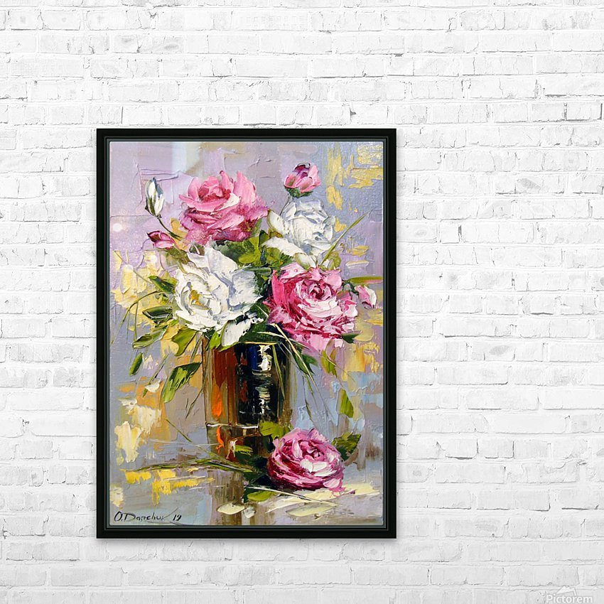 Bouquet of delicate roses HD Sublimation Metal print with Decorating Float Frame (BOX)