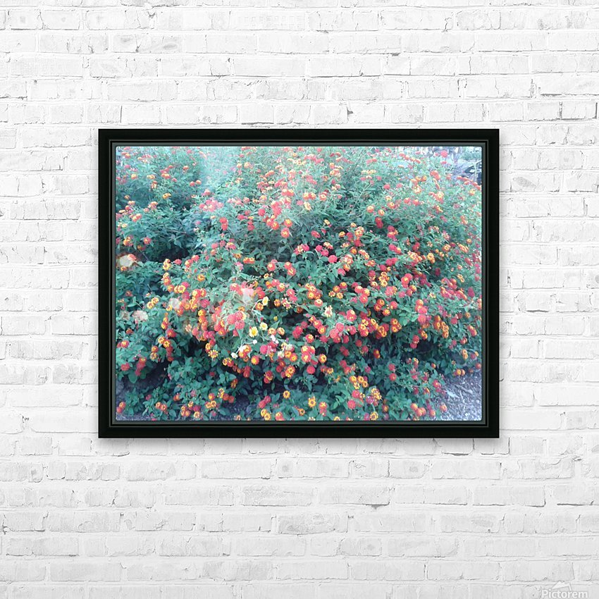 Summer red flowers HD Sublimation Metal print with Decorating Float Frame (BOX)