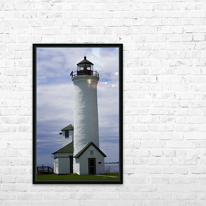 Cape Vincent Lighthouse HD Sublimation Metal print with Decorating Float Frame (BOX)