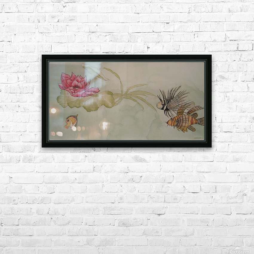 Lotus Song HD Sublimation Metal print with Decorating Float Frame (BOX)