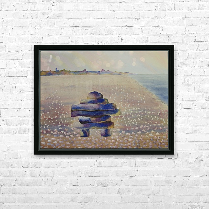 Inukshuk HD Sublimation Metal print with Decorating Float Frame (BOX)