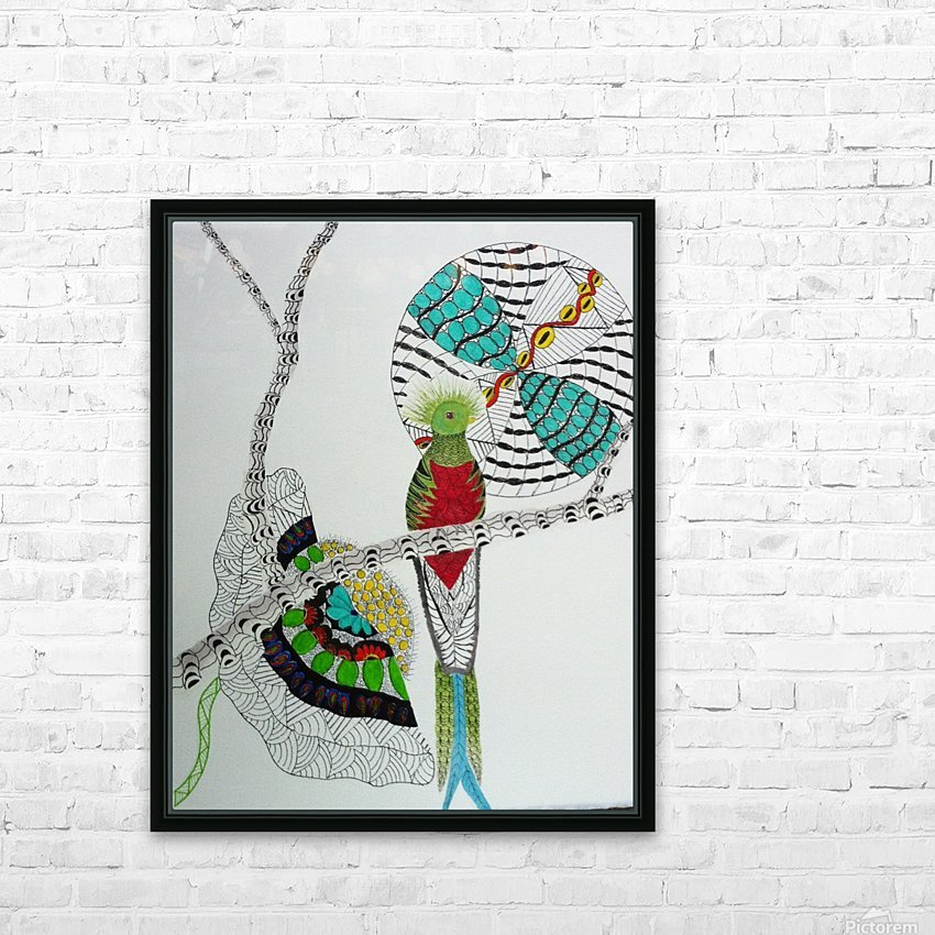 Resplendent Quetzal HD Sublimation Metal print with Decorating Float Frame (BOX)