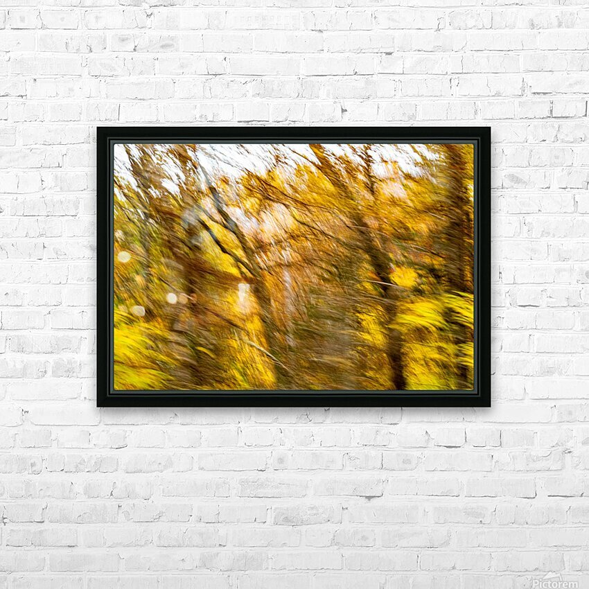 Foliage Blur HD Sublimation Metal print with Decorating Float Frame (BOX)