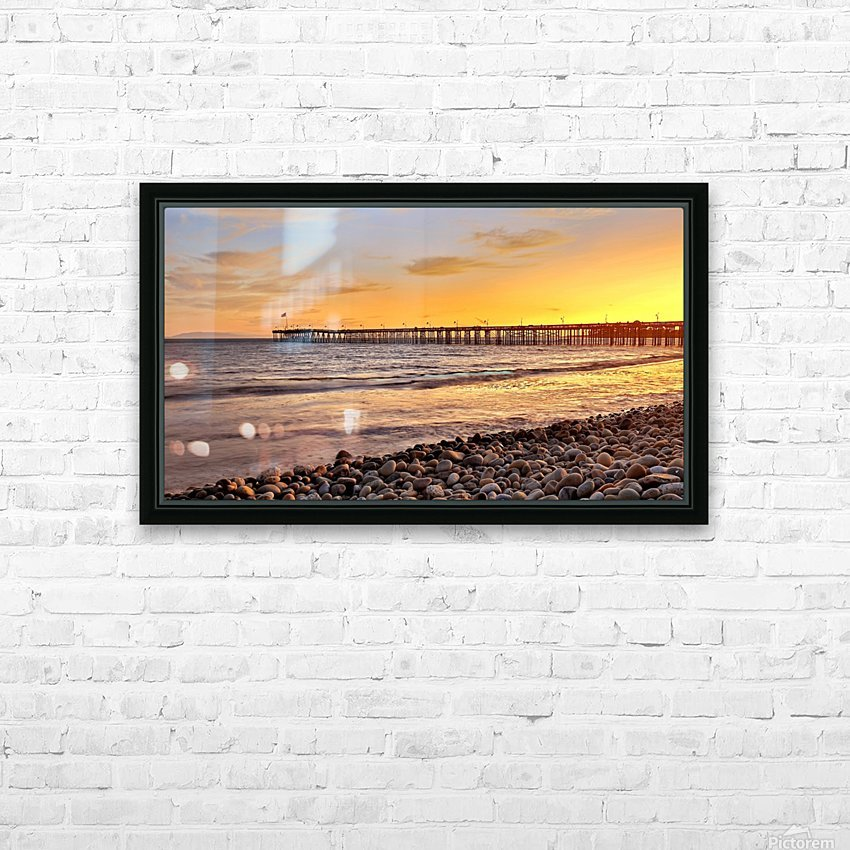 hot in california HD Sublimation Metal print with Decorating Float Frame (BOX)