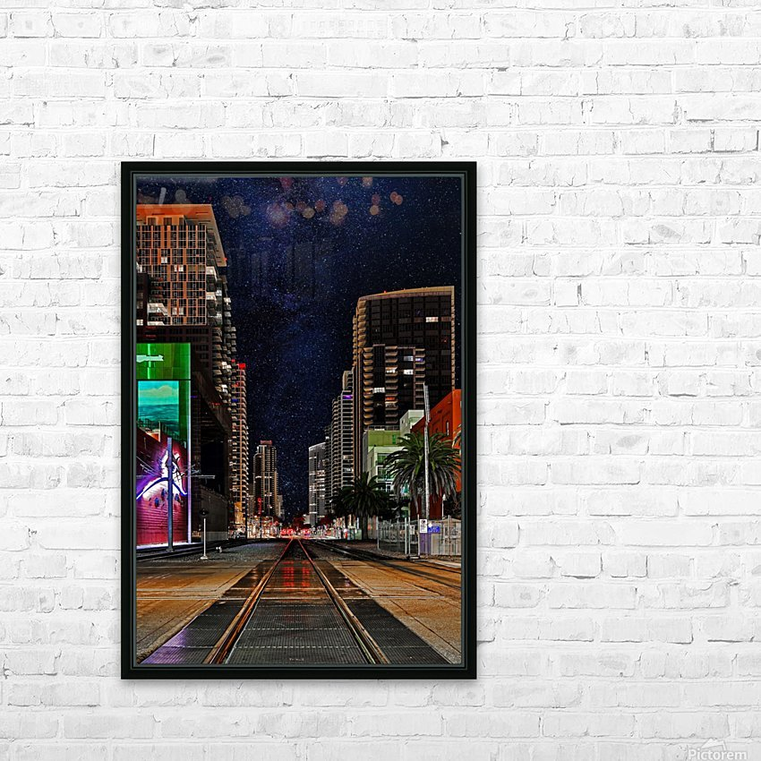 Midnight City Blues HD Sublimation Metal print with Decorating Float Frame (BOX)