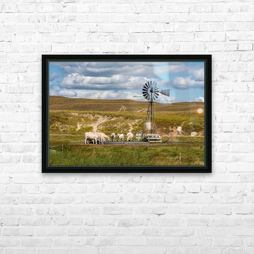 Trails Lead To Water Tanks HD Sublimation Metal print with Decorating Float Frame (BOX)