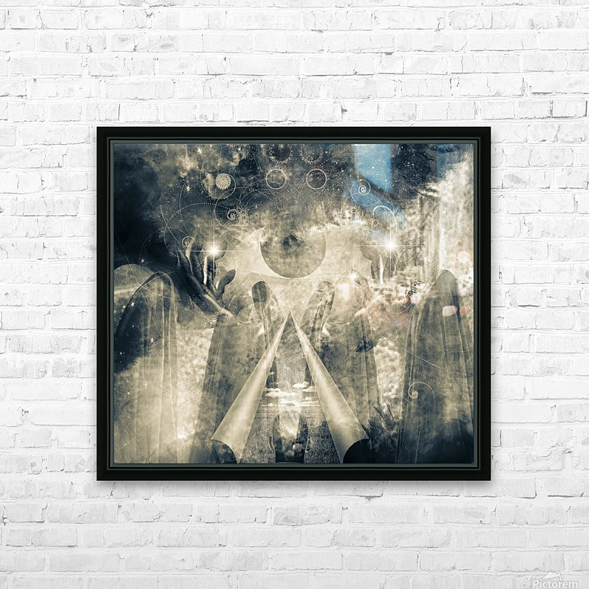 Mystical Priests HD Sublimation Metal print with Decorating Float Frame (BOX)