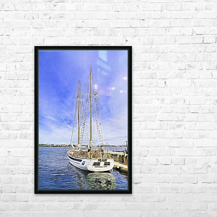 Mar Sailboat in Halifax HD Sublimation Metal print with Decorating Float Frame (BOX)