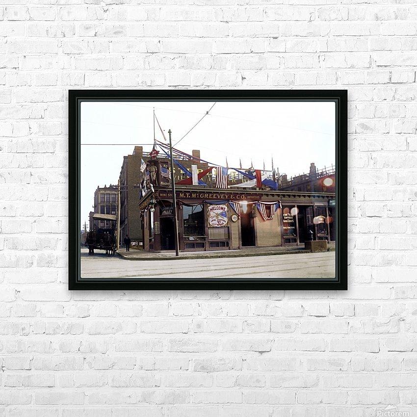 McGreevys Third Base Saloon Boston 1903 HD Sublimation Metal print with Decorating Float Frame (BOX)