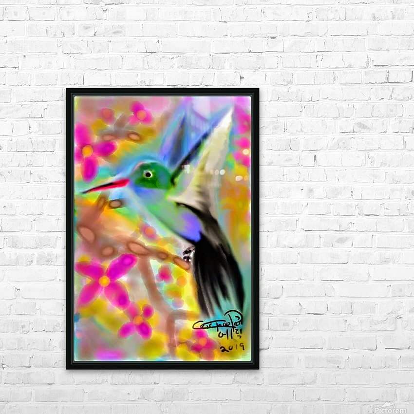 bird & tree.v2 HD Sublimation Metal print with Decorating Float Frame (BOX)