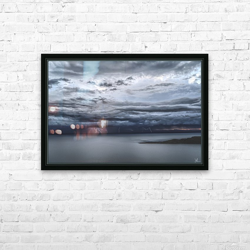 Lightning Over Lake Titicaca HD Sublimation Metal print with Decorating Float Frame (BOX)