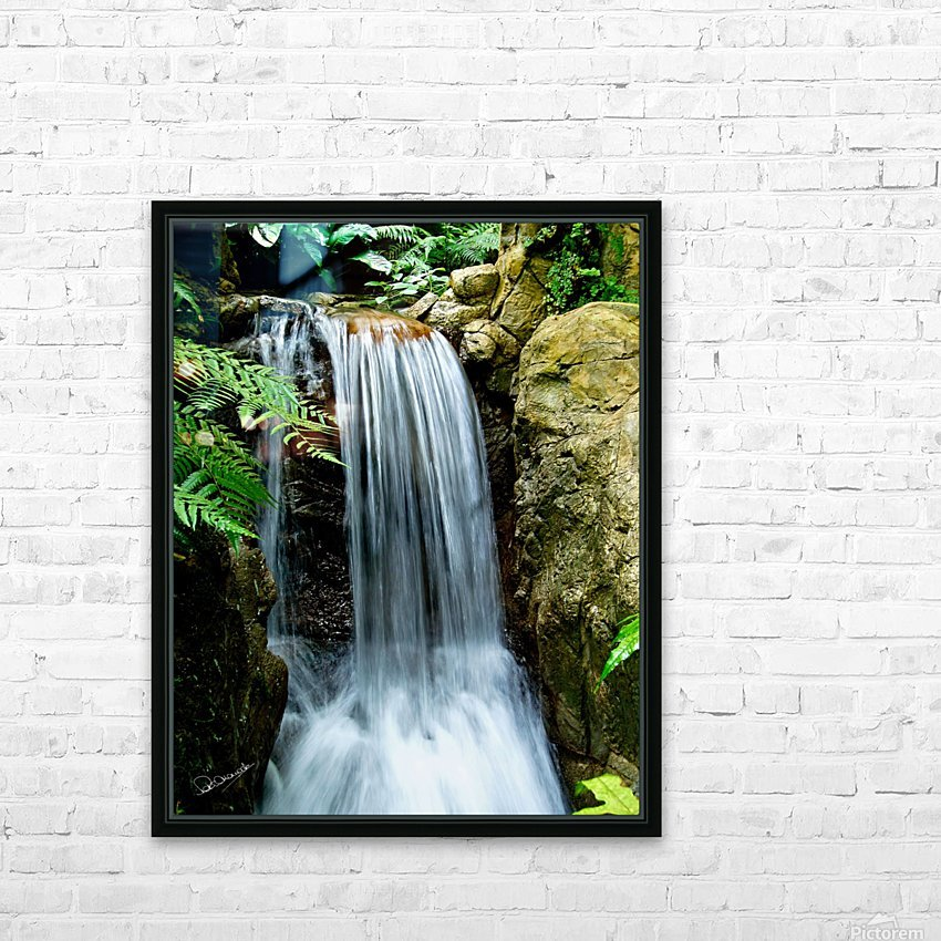 LIttle Hong Kong Park Waterfall HD Sublimation Metal print with Decorating Float Frame (BOX)