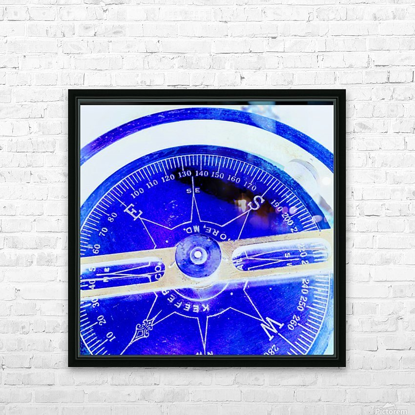 compass HD Sublimation Metal print with Decorating Float Frame (BOX)
