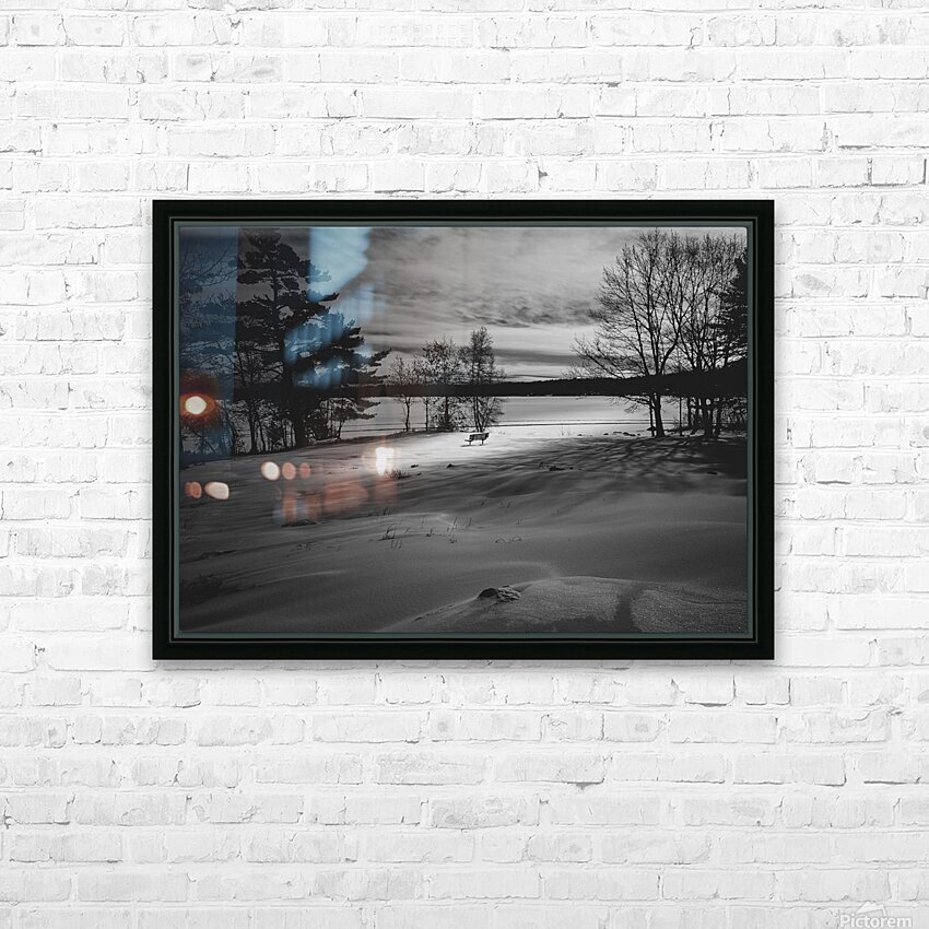 Empty Bench HD Sublimation Metal print with Decorating Float Frame (BOX)