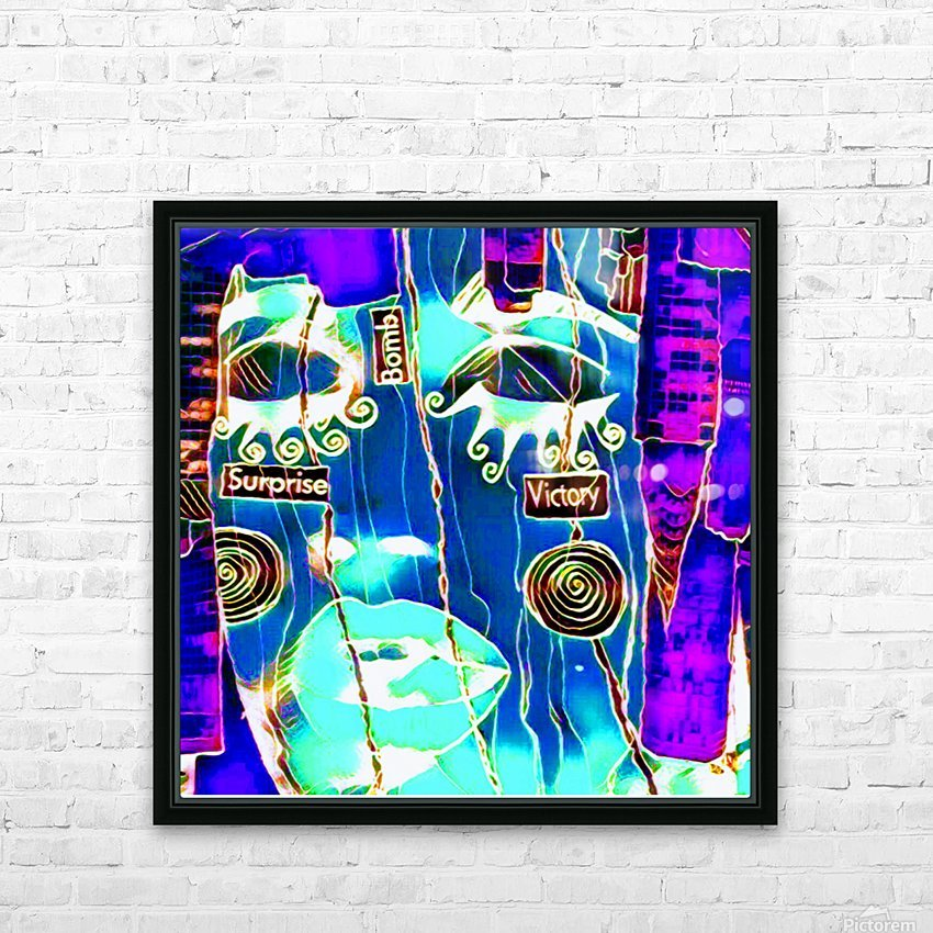 neon babe HD Sublimation Metal print with Decorating Float Frame (BOX)